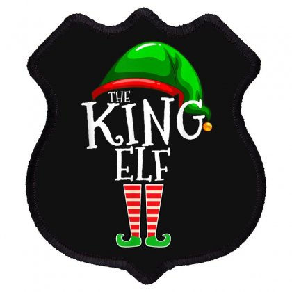 The King Elf Family Matching Group Christmas Gift Men Dad T Shirt Shield Patch Designed By Cuser1744