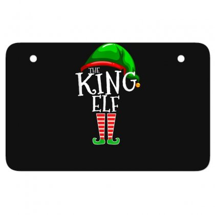 The King Elf Family Matching Group Christmas Gift Men Dad T Shirt Atv License Plate Designed By Cuser1744