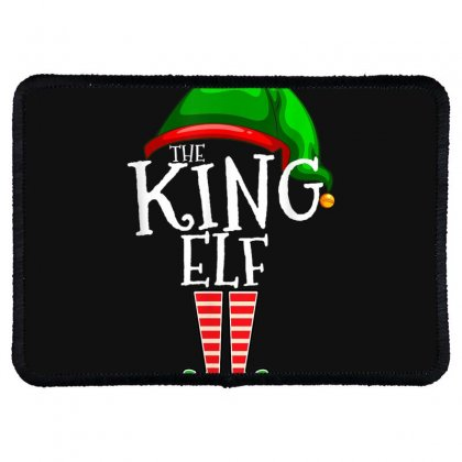 The King Elf Family Matching Group Christmas Gift Men Dad T Shirt Rectangle Patch Designed By Cuser1744