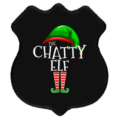 The Chatty Elf Group Matching Family Christmas Gift Funny T Shirt Shield Patch Designed By Cuser1744