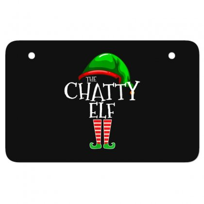 The Chatty Elf Group Matching Family Christmas Gift Funny T Shirt Atv License Plate Designed By Cuser1744
