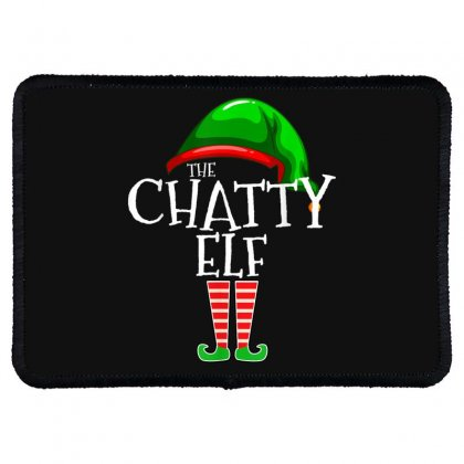 The Chatty Elf Group Matching Family Christmas Gift Funny T Shirt Rectangle Patch Designed By Cuser1744