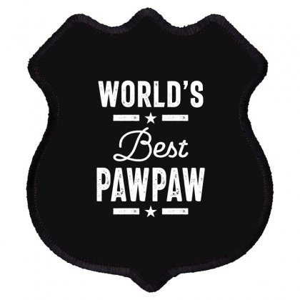 World's Best Pawpaw Father Grandpa Gift Shield Patch Designed By Cidolopez