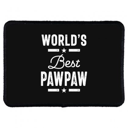 World's Best Pawpaw Father Grandpa Gift Rectangle Patch Designed By Cidolopez