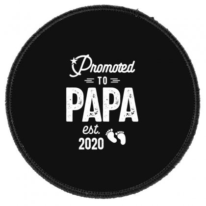 Mens Promoted To Papa Est. 2020 Baby Gift For New Daddy Round Patch Designed By Cidolopez