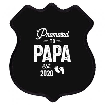 Mens Promoted To Papa Est. 2020 Baby Gift For New Daddy Shield Patch Designed By Cidolopez