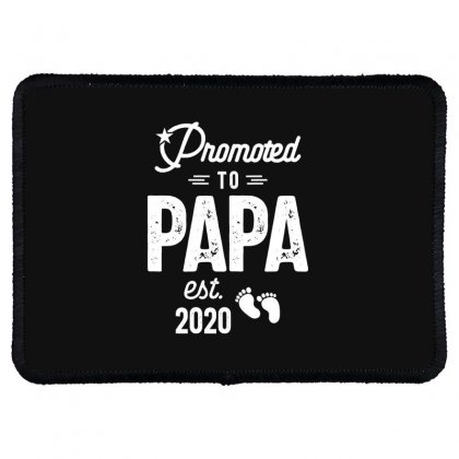 Mens Promoted To Papa Est. 2020 Baby Gift For New Daddy Rectangle Patch Designed By Cidolopez