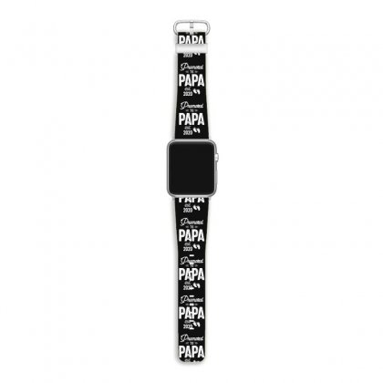 Mens Promoted To Papa Est. 2020 Baby Gift For New Daddy Apple Watch Band Designed By Cidolopez