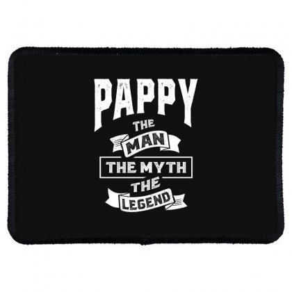 Mens Pappy The Man Myth Legend Father's Day Rectangle Patch Designed By Cidolopez