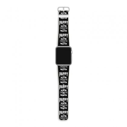 Mens Pappy The Man Myth Legend Father's Day Apple Watch Band Designed By Cidolopez