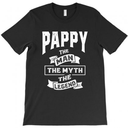 Mens Pappy The Man Myth Legend Father's Day T-shirt Designed By Cidolopez