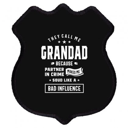 Funny Grandad Grandfather Gift Shield Patch Designed By Cidolopez