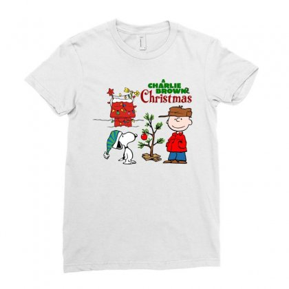 Peanuts Charlie Brown Christmas Ladies Fitted T-shirt Designed By Neset