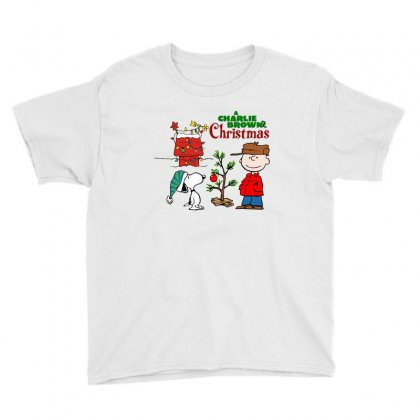 Peanuts Charlie Brown Christmas Youth Tee Designed By Neset