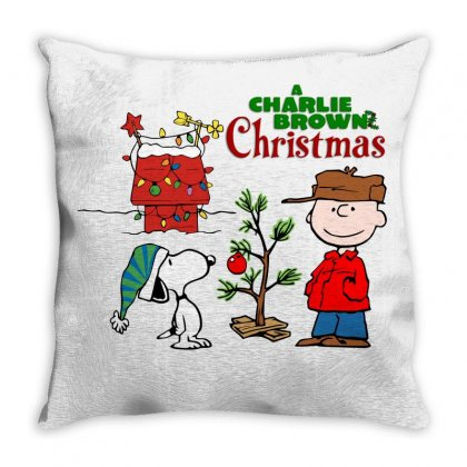 Peanuts Charlie Brown Christmas Throw Pillow Designed By Neset