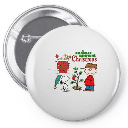 Peanuts Charlie Brown Christmas Pin-back Button Designed By Neset