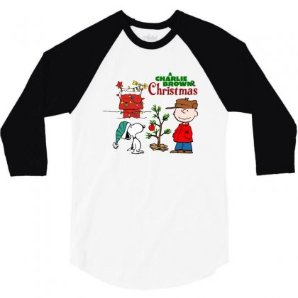 Peanuts Charlie Brown Christmas 3/4 Sleeve Shirt Designed By Neset