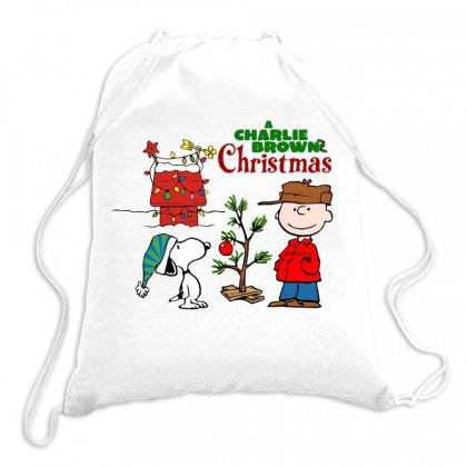 Peanuts Charlie Brown Christmas Drawstring Bags Designed By Neset