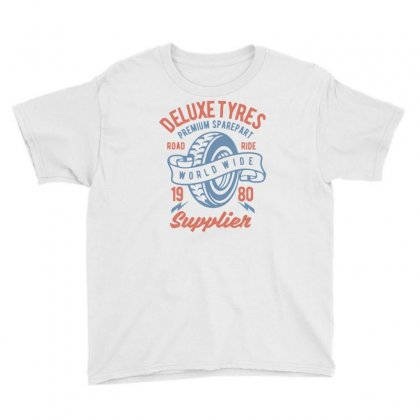 Deluxe Tyres Youth Tee Designed By Daraart