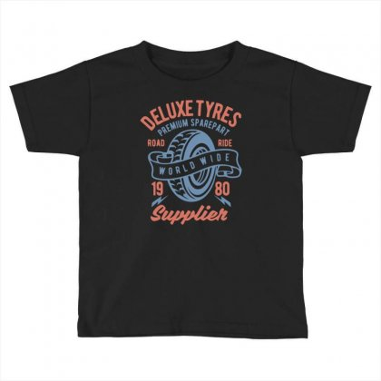Deluxe Tyres Toddler T-shirt Designed By Daraart
