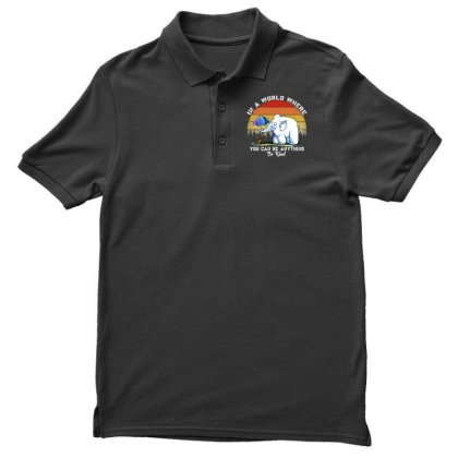 In A World Where You Can Be Anything Be Kind Men's Polo Shirt Designed By Mirazjason
