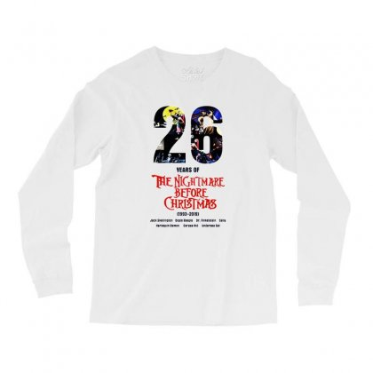 26 Years Of The Nightmare Before Christmas Long Sleeve Shirts Designed By Mirazjason