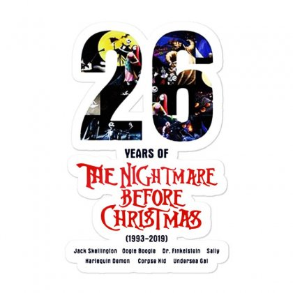 26 Years Of The Nightmare Before Christmas Sticker Designed By Mirazjason
