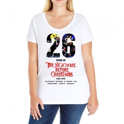 26 Years Of The Nightmare Before Christmas Ladies Curvy T-shirt Designed By Mirazjason
