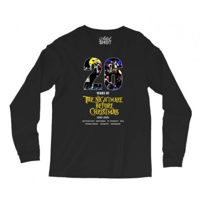 26 Years Of The Nightmare Before Christmas 1993 2019 Long Sleeve Shirts Designed By Mirazjason