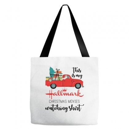 This Is My Hallmark Christmas Movies Watching Shirt Tote Bags Designed By Mirazjason