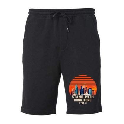 Stand With Hong Kong Fleece Short Designed By Mirazjason