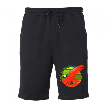 Save The Rainforest Fleece Short Designed By Mirazjason