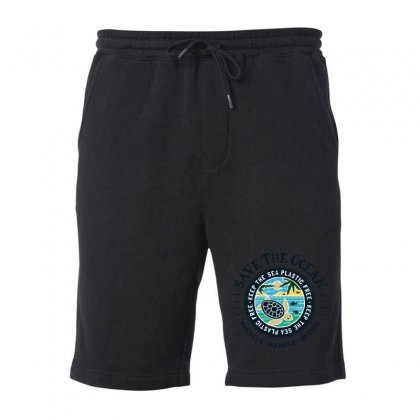 Save The Ocean Keep The Sea Plastic Free Fleece Short Designed By Mirazjason