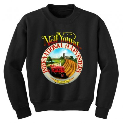 Neil Young Harvesters Youth Sweatshirt Designed By Mirazjason