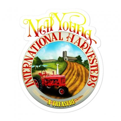 Neil Young Harvesters Sticker Designed By Mirazjason