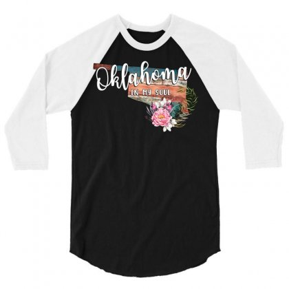 Oklahoma In My Soul 3/4 Sleeve Shirt Designed By Honeysuckle