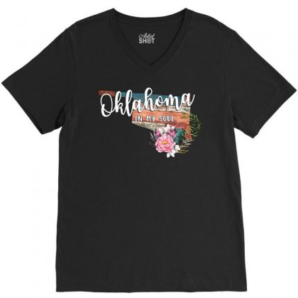 Oklahoma In My Soul V-neck Tee Designed By Honeysuckle