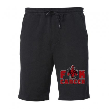 Funny Deadpool Fuck Cancer Fleece Short Designed By Mirazjason