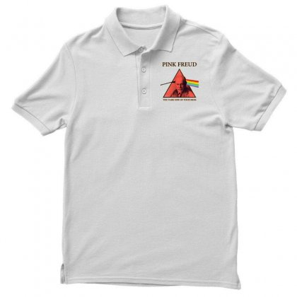 Pink Freud Dark Side Of Your Mom Funny Men's Polo Shirt Designed By Mirazjason