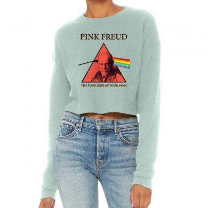 Pink Freud Dark Side Of Your Mom Funny Cropped Sweater Designed By Mirazjason