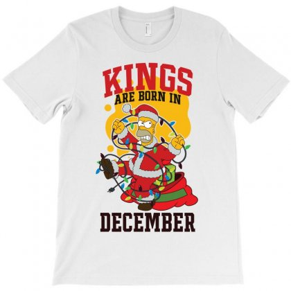 Kings Are Born In December Homer Edition T-shirt Designed By Tiococacola