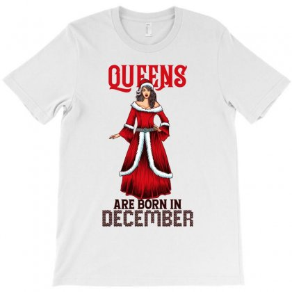 Queens Are Born Christmas Edition T-shirt Designed By Tiococacola