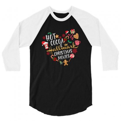 Hot Cocoa Hallmark Christmas Movies For Dark 3/4 Sleeve Shirt Designed By Neset