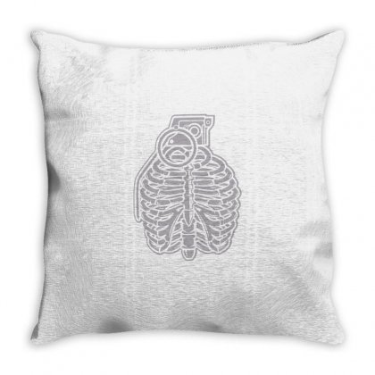 Grenade Ribcage Throw Pillow Designed By Daraart