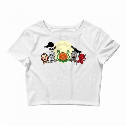 Halloween Monster Crop Top Designed By Daraart