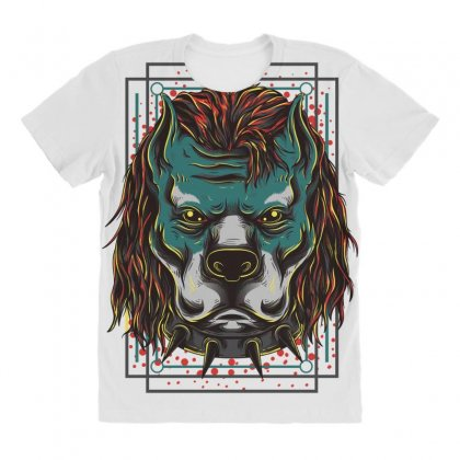 Handsome Pitbull All Over Women's T-shirt Designed By Daraart