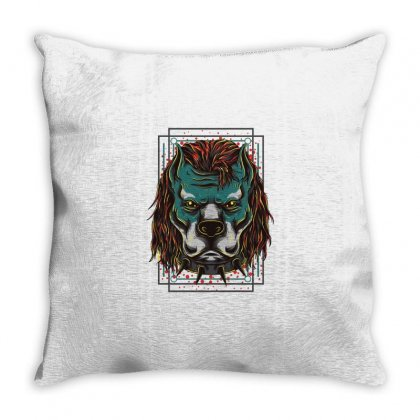 Handsome Pitbull Throw Pillow Designed By Daraart