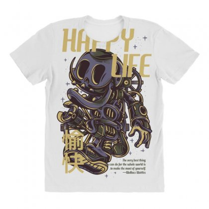 Happy Life All Over Women's T-shirt Designed By Daraart