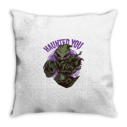Haunted You Throw Pillow Designed By Daraart