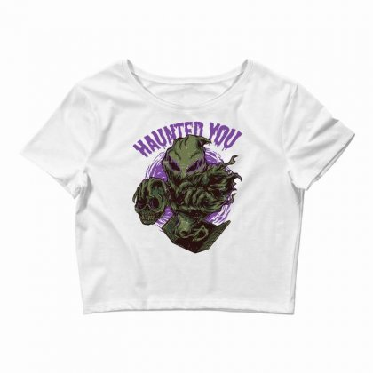 Haunted You Crop Top Designed By Daraart